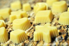 ♥ DIY Massage Bars/soft lotionbars 1 part beeswax, 1 part cocoa butter, 1 part liquid oil. Essential oils, as desired. I used coconut oil instead of cocoa butter and it is great for massage.