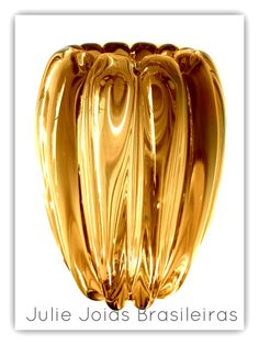 Vaso em Murano com ouro em pó 24k (Murano glass vase with 24k powdered gold)