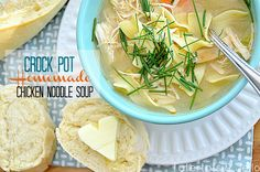 Easy Slow Cooker Chicken Noodle Soup. Yum!