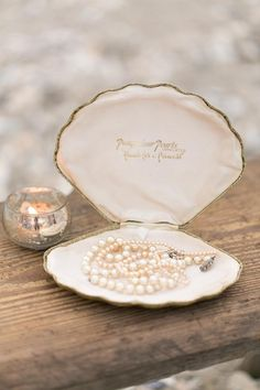 propose by picking up a shell but the ring is really inside- #anthropologie gold fake clam