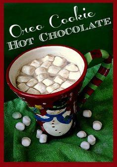 Oreo Cookie Hot Chocolate. sewlicioushomedecor.com
