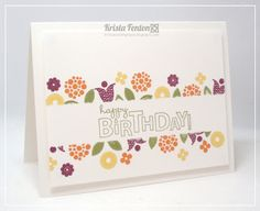 Stampin' Up! Birthday by Kristas Stamp Spot: Masked Bright Blossoms