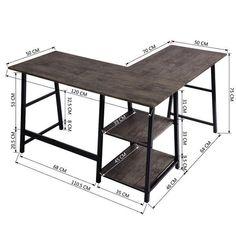 Shop Black Friday Deals on Carbon Loft Angband L-shaped Corner Computer Desk with Shelf - Overstock - 29204463 Brown Furniture, Office Furniture, Diy Furniture, Diy Office Desk, Furniture Removal, Computer Desk With Shelves, Desk Shelves, Shelf, Computer Desks