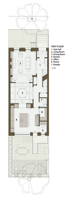 Casita floorplans on pinterest courtyard house plans for Brownstone plans