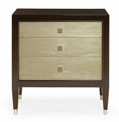 Contemporary Bedroom Dressers in stock with great savings on floor samples. Contemporary bedroom dressers avaialble online or instore. Large Furniture, Bedroom Furniture, Home Furniture, Furniture Ideas, Metal Furniture, 3 Drawer Nightstand, Nightstands, Bedside Chest, Bedside Cabinet
