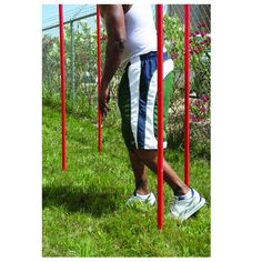 Slalom poles help in improving speed, agility, and balance. Perfect for direction speed http://training.Now available for just $57 use coupon code TRACK5.