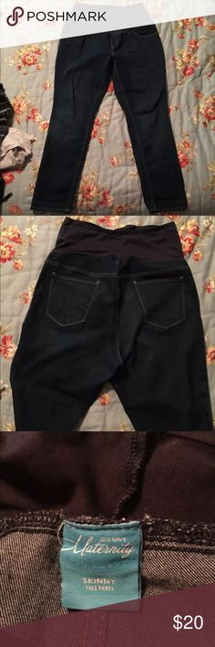 Full panel pair of Old Navy Maternity Skinny Jeans Full panel maternity skinny jeans. Size 18. Old Navy Jeans Skinny