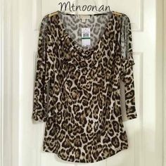 I just listed NEW Michael Kors Animal Print Tunic … ($59) on Mercari! (MSRP $99.50) Come check it out! #michaelkors