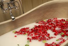 One of our Valentine's Day packages included a bath of whole milk that will leave your skin refreshed and nourished.  vspadallas.com