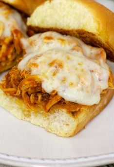 Slow Cooker Chicken Parmesan Sliders- this was very yummy and super easy. For leftovers the next night, I served it over noodles and added in some extra sauce.