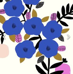 Illustration by Susan Driscoll (via The Print Tree). Motifs Textiles, Textile Prints, Textile Patterns, Textile Design, Flower Patterns, Print Patterns, Illustration Blume, Pattern Illustration, Coffee Illustration