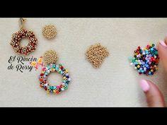 Moon Earrings, Beaded Earrings, Crochet Earrings, Beaded Bracelets, Beaded Bracelet Patterns, Beading Patterns, Crochet Videos, Beading Projects, Bead Weaving