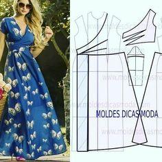 How to sew umbrella dress Easy DIY Dress pattern Free PDF Fashion Sewing, Diy Fashion, Fashion Dresses, Floral Fashion, Fashion Tips, Diy Clothing, Sewing Clothes, Dress Sewing Patterns, Clothing Patterns