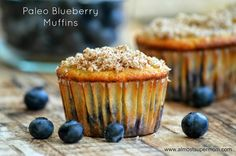 Paleo and Gluten Free Blueberry Muffins