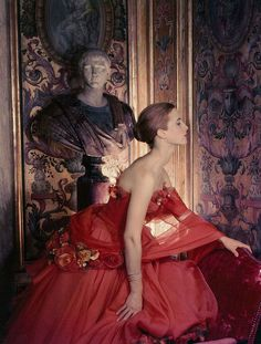 The gown is Christian Dior photographed by  Cecil Beaton in 1953