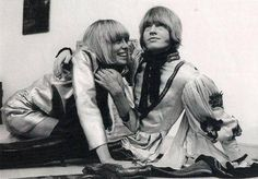Brian   invited Anita  like  his girlfriend  to go with  The Rolling Stones after that all is history  Anita was Femme Fatal for Stones RIP dear Anita  ❤️