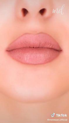 Ulzzang Makeup Tutorial, Lip Makeup Tutorial, Lipstick Tutorial, Makeup Is Life, Makeup Eye Looks, Contour Makeup, Lip Contouring, Makeup Order, Glamour Makeup