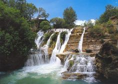 Situated in department Gard, in the vicinity of National Park Cevennen and Uzès. Holidays France, Montpellier, Europe Destinations, France Travel, Fields, Trip Advisor, Waterfall, Beautiful Places, Around The Worlds