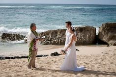 our ceremony. Stables beach wedding at Turtle Bay resort in Oahu, Hawaii