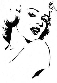 Super Marilyn Monroe Pop Art Black And White Search Ideas Marilyn Monroe Dibujo, Marilyn Monroe Stencil, Marilyn Monroe Pop Art, White Art, Black And White, Monalisa, Arte Tribal, Stencil Art, Stenciling