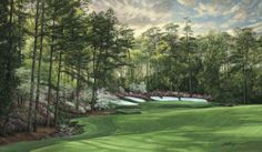 Augusta 13th Hole 2008 Azalea - Giclee Canvas LE by Linda Hartough. Buy it @ ReadyGolf.com