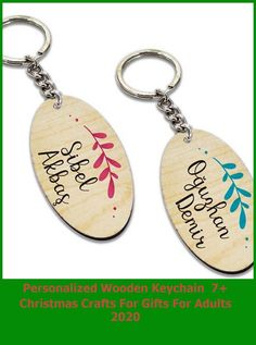 The specified name will be printed on both the front and back. It is sent in blue for men and in pink for women. A key holder will be sent if you purchase it. The keychain is made of maple MDF material and the print on it is made with fadeless and indelible UV technology. #christmas #gift #foryou christmas crafts for gifts for adults Personalized Wooden Keychain 7+ Christmas Crafts For Gifts For Adults 2020
