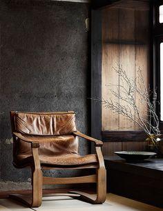 Chaise dans un intérieur Japonais à Kyoto