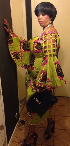 FROM DRC African Print Dresses, African Fashion Dresses, African Attire, African Wear, African Women, African Dress, African Inspired Fashion, African Print Fashion, Africa Fashion