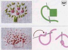 Delicadezas en crochet Gabriela: Puntos especiales en bordados con cintas