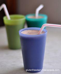 5-Minute Chocolate Dairy Free Ice Cream- 1 frozen banana, 1 T cocoa powder, 1 cup coconut milk.