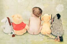 winnie the pooh inspired. Wish I had thought of this when Aidan was a baby as his nursery was alllll Winnie the Pooh. Photo Bb, Jolie Photo, Baby Boys, Cute Kids, Cute Babies, Disney Babys, Foto Baby, Everything Baby, Nursery Themes