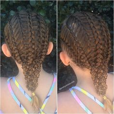 4 Dutch braids feathered to 3 more braids then into a 7 strand braid of braids. Are you confused? 😂 Inspired by a style I found on @thehairbraidingbasics 💖  #lalasundaypost #industriebeauty #melbournehairstylist #melbournehairdresser #braid #braids #hairinspiration #cutegirlshairstyles #instabraid #instahair #modernsalon #hairdressermagic #pretty #dutchbraid #artistssupportingartists #braidingmommies #dutchbraid #behindthechair #americansalon #peinados #mySCconnection #7strandbraids