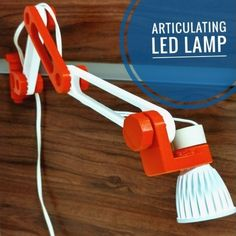3D Printable 3D printed articulating LED lamp by Igor Albuquerque