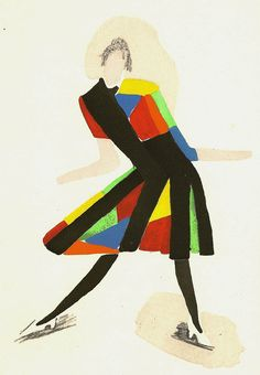 "Sonia Delaunay illustration, 1919-1928, via ""Tableaux Vivants"" published in 1969."