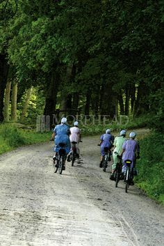 Bike riding. Some people are under the impression that one can't be active--such as bike riding--if they wear modest clothes. The Amish and Mennonites tell us differently.