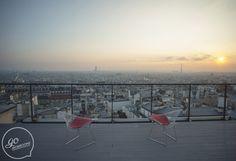 Terrasse a louer pour soirée Paris - Petit perchoir de 15m2 avec une vue à couper le souffle sur la ville!