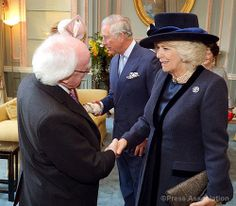 The Duchess of Cornwall welcomes President Higgins |8th April 2014
