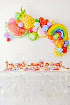 Kara's Party Ideas Teen Tutti Frutti Flavorites Rainbow Party | Kara's Party Ideas