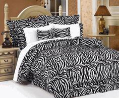 Zebra Print Bedroom Beadspread