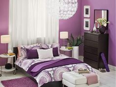 Looking for Purple Bedroom ideas? Browse Purple Bedroom images for decor, layout, furniture, and storage inspiration from HGTV. Bedroom Design, Dreamy Bedrooms, Purple Bedrooms, Bedroom Decor, Feminine Bedroom, Bedroom Color Schemes, Room Decor, Bedroom Colors, Feminine Bedroom Decor