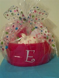 Baby Shower Gift Basket .... personalize with vinyl!!