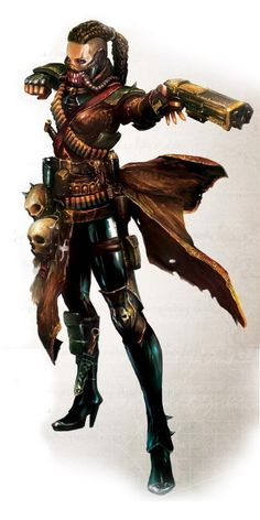 Character from Warhammer 40k one of the most interesting space settings out there, space opera / sci-fi character inspiration