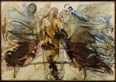 Salvador Dalí - Metamorfosis de ángeles en mariposa
