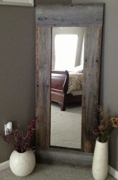 Using wood to re-do a cheap door mirror