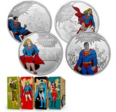 October 3, 2015: Royal Canadian Mint Releases New 4-Coin Superman/Supergirl Series ift.tt/1OeAcey