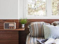 bedroom wooden back wall