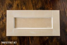 Do you like the look of a shaker style cabinet door? Here is an easy DIY tutorial on how to build shaker style drawer front for you closet system. Bathroom Drawers, Kitchen Cabinet Drawers, Kitchen Cabinet Remodel, Kitchen Cabinet Colors, Kitchen Reno, Kitchen Colors, Kitchen Remodeling, Cupboards, Remodeling Ideas