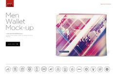 Men Wallet Mock-up by Mocca2Go on @creativemarket