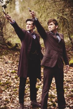 """Matt Smith and David Tennant as the Doctor in""""The Day of the Doctor"""""""