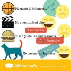 #Gustar Likes And Dislikes, Spanish 1, Spanish Classroom, Teaching Ideas, School, Creative, Spanish Worksheets, Reading Comprehension, Deporte